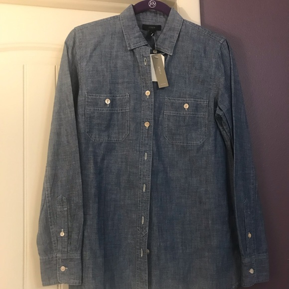 J. Crew Tops - J Crew chambray shirt for women, NWT